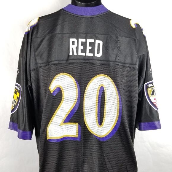 Reebok Ed Reed Baltimore Ravens Jersey XL Black